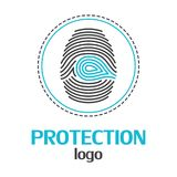 Protection logo template on a white background. Vector Illustrator Eps10. Protection  logo template on a white background. Vector Illustrator Eps10 Stock Images