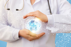 Protection of the medical network. Royalty Free Stock Images