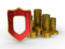 Protection of money. Isolated 3D image on white background Stock Photo