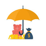 Protection money concept Royalty Free Stock Photo