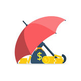 Protection money concept Stock Photo