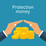 Protection money vector Royalty Free Stock Image