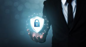 Protection network security computer and safe your data concept royalty free stock photo