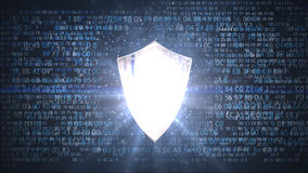 Protection of personal data. Network protection shield. Network protection shield. Protection of personal data Stock Photography