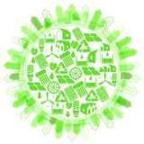 Protection of planet using renewable energy Stock Photography