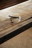 Protection plastic glasses Stock Photo