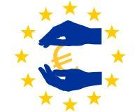 Protection pour l'euro Image libre de droits