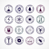 Protection Proof Round Stamps Royalty Free Stock Photos