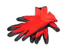 Protection red gloves Royalty Free Stock Images