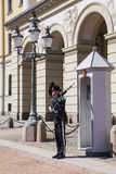 Protection of the Royal Palace in Oslo Stock Image