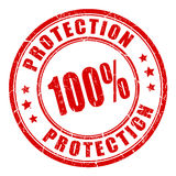 100 protection rubber stamp Royalty Free Stock Image