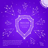 The protection and security geometric art concept royalty free stock photos
