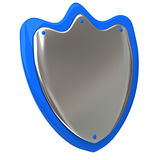 Protection shield 3d. Silver and blue protection shield icon 3d Royalty Free Stock Photos