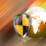 Protection shield  on  abstract  background Stock Photography