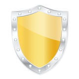 Protection shield. Royalty Free Stock Photo