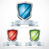 Protection shield security icons. Stock Photography