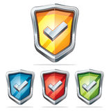 Protection shield security icons. Royalty Free Stock Images