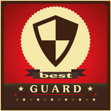 Protection shield sign concept style design. Poster Royalty Free Stock Image