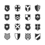 Protection shield vector icons Royalty Free Stock Photography