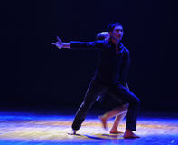 Protection-should've sald,I love you-Modern dance. In December 19, 2014, Shi Feifei the dancer dance work session held in the South hall. His teacher is the Stock Photo