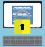 Protection software design Stock Photo
