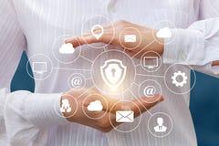Protection structurelle des données électroniques Photographie stock libre de droits
