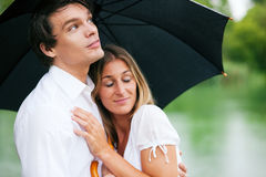 Protection from the summer rain Royalty Free Stock Image