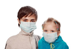 Protection from a swine flu Stock Photos