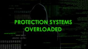 Protection systems overloaded, ddos attacks on government and private sites. Stock footage stock footage