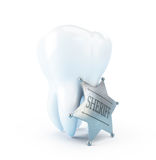 Protection of teeth. Tooth sheriff protection of teeth Royalty Free Stock Image