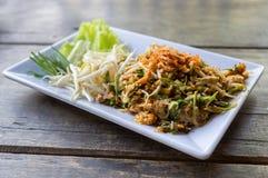 Protection thaïlandaise ou la nouille thaïlandaise de style image libre de droits