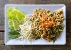 Protection thaïlandaise ou la nouille thaïlandaise de style photographie stock