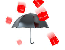 Protection umbrella Stock Images