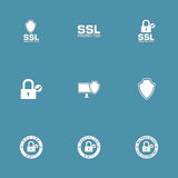 Protection Web Internet Vector Icon Set Royalty Free Stock Photography