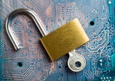 Protection your system Stock Images