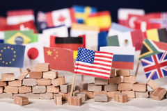 Protectionism of the USA Stock Image
