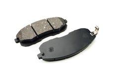 Protections de frein de voiture sur le blanc Photo stock
