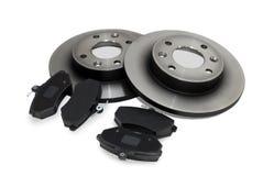 Protections de frein et disques de frein Image stock