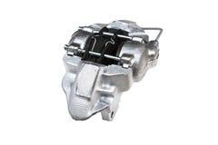 Protections du circuit de freinage mécanique de voiture d'isolement sur le fond blanc Image stock