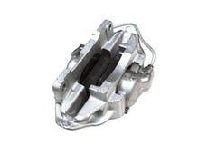Protections du circuit de freinage mécanique de voiture d'isolement sur le fond blanc Image libre de droits