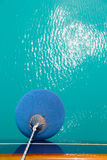 Protective balloon for sail boat Royalty Free Stock Images