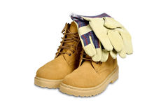 Protective boots and gloves Royalty Free Stock Photos