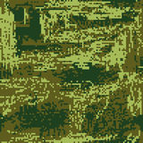 Protective camouflage green coloration pixel fatherland. vector Royalty Free Stock Image