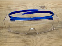 Protective clear eyeglasses Stock Image