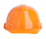 Protective construction helmet orange Royalty Free Stock Photography
