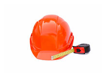 Protective construction helmet Stock Images