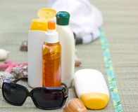 Protective creams and lotions. Protective creams, lotions and body milk we need to protect our skin Stock Photography