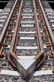Protective derailment of the train. Royalty Free Stock Image