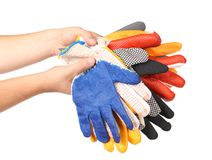 Protective different gloves Royalty Free Stock Photography