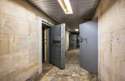 Protective doors of abandoned Bank vaults Royalty Free Stock Photo
